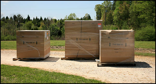boxes of SkyShed POD Dome Observatories