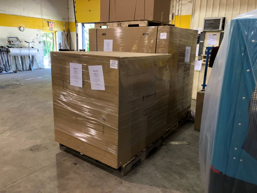 boxes of SkyShed POD Dome Observatory