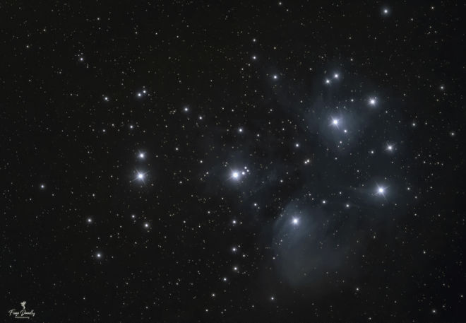 astrophotography taken using a dome observatory